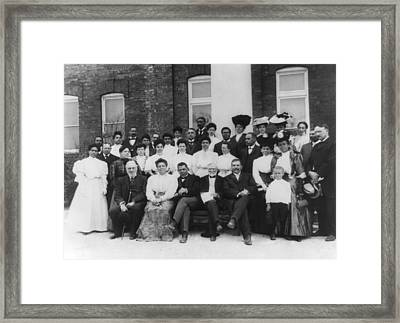 Tuskegee Institute Faculty Framed Print by Frances Benjamin