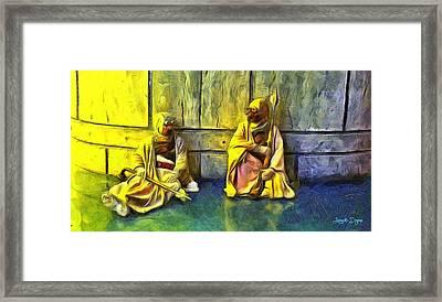 Tuskens At Break - Da Framed Print by Leonardo Digenio