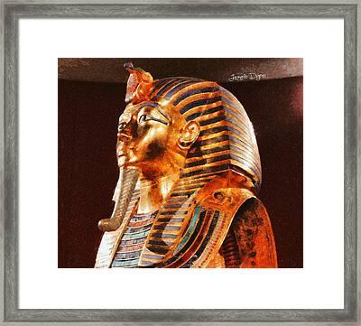 Tutankhamun Golden Mask - Da Framed Print by Leonardo Digenio