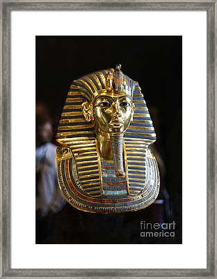 Tutankhamun's Magnificent Golden Death Mask. Framed Print