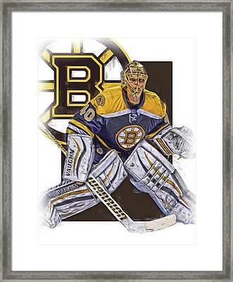 Tuukka Rask Boston Bruins Oil Art 1 Framed Print