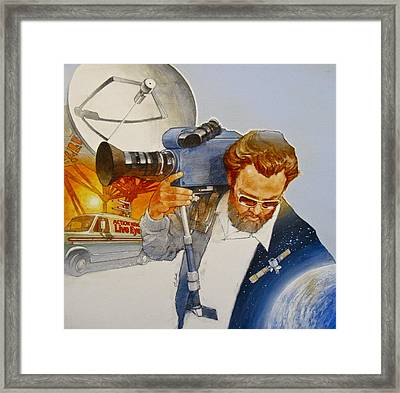 Framed Print featuring the painting Tv - Mobile by Cliff Spohn