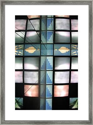 Tv God Framed Print by Jez C Self