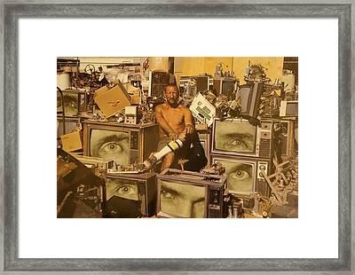 T.v. Framed Print by Jayne Surrena