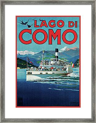 Lago Di Como Framed Print by Unknown Artist
