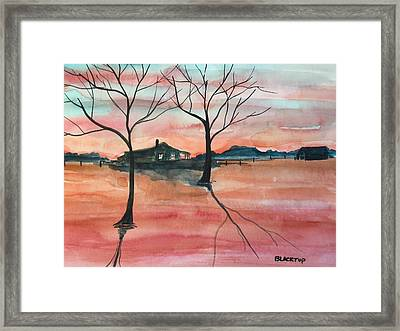 T V A  Flooding The Valley Framed Print by Ken  Blacktop  Gentle