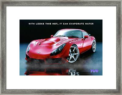 Tvr Evaporating Water Framed Print by ISAW Gallery
