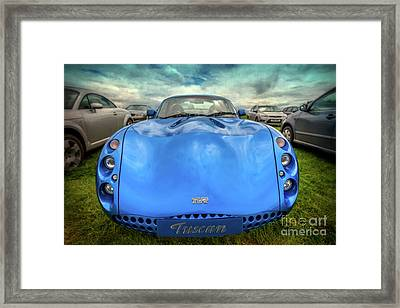 Tvr Tuscan Framed Print by Adrian Evans