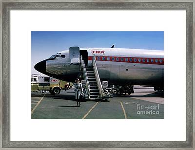 Twa Boeing 707, August 1965 Framed Print by Wernher Krutein