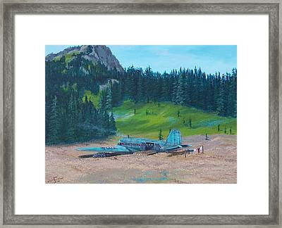 Twa Mountaintop Cabin Framed Print by Gene Ritchhart
