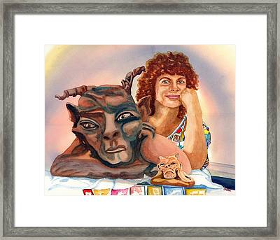 T'was Beauty Made The Beast Framed Print by Gerald Carpenter