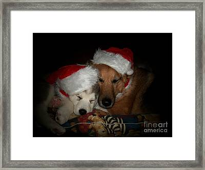 Twas The Night Before Christmas Framed Print by Marjorie Imbeau