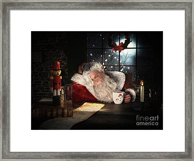 Framed Print featuring the digital art Twas The Night Before Christmas by Shanina Conway