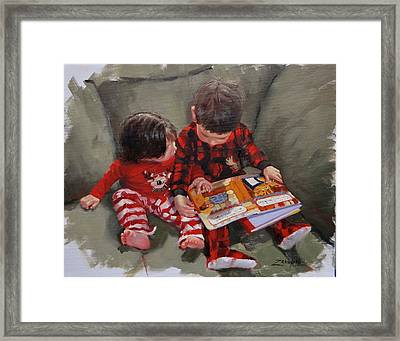 Twas The Night Before Framed Print by Laura Lee Zanghetti