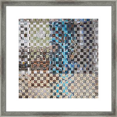 Framed Print featuring the mixed media Tweed by Jan Bickerton