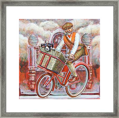 Tweed Runner On Red Pashley Framed Print