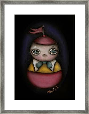 Tweedle Dum Framed Print by  Abril Andrade Griffith