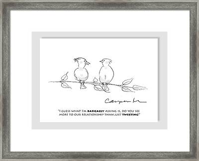 Tweeting Framed Print