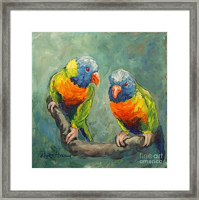 Framed Print featuring the painting Tweeting by Phyllis Howard