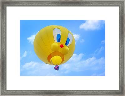 Tweety Bird - Hot Air Balloon Framed Print