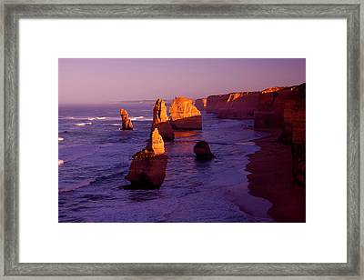 Twelve Apostle Dawn Framed Print by Mike  Dawson