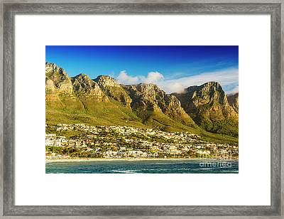Twelve Apostles In South Africa Framed Print by Tim Hester