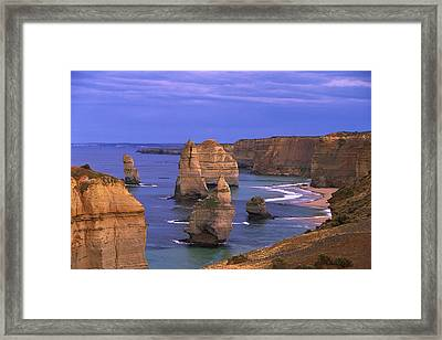 Twelve Apostles Limestone Cliffs, Port Framed Print by Konrad Wothe