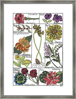 Twelve Month Flower Box Framed Print