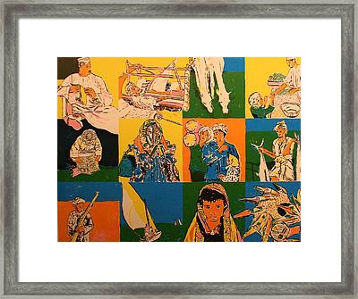 Twelve Scened From Middle East Framed Print by Biagio Civale