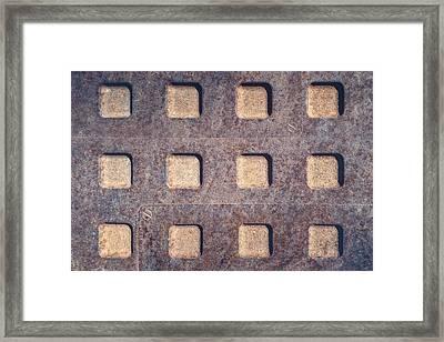 Twelve Squares Framed Print