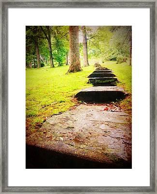 Twelve Steps Framed Print