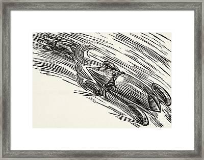 Twenties Motor Racing Framed Print