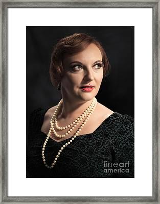 Twenties Style Classic Portrait Framed Print by Amanda Elwell