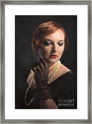 Twenties Style Portrait Framed Print by Amanda Elwell