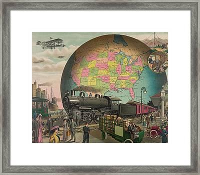 Twentieth Century Transportation. 1910 Framed Print by Everett