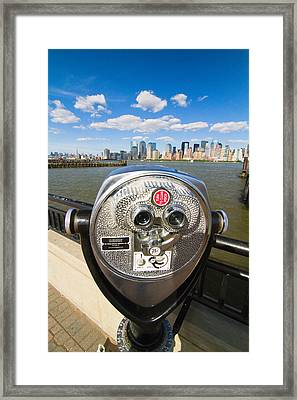 Twenty Five Cents View Framed Print by George Oze