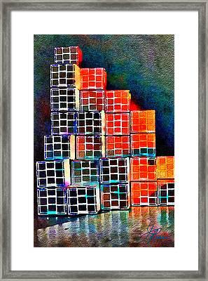 Twenty Four Boxes Framed Print by Joan Reese
