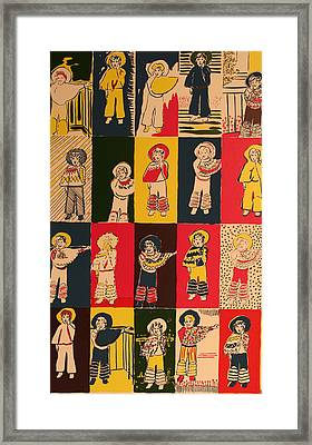 Twenty Little Mexicans Framed Print by Biagio Civale