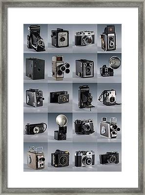 Twenty Old Cameras - Color Framed Print