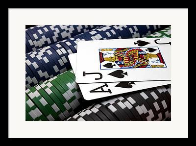 Gambling Framed Prints