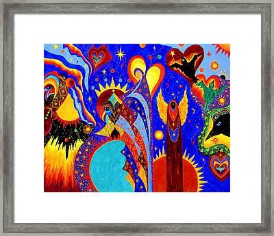 Angel Fire Framed Print by Marina Petro