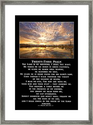 Twenty-third Psalm Prayer Framed Print