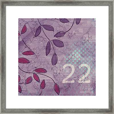 Twenty-two - V34 Framed Print by Variance Collections