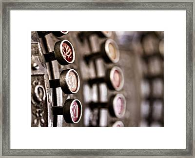 Twenty..thirty..forty.... Framed Print