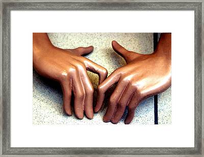 Twiddle Away Framed Print by Jez C Self