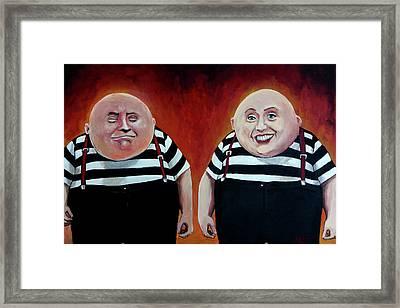 Twiddledee And Twiddledumb Framed Print by Tom Carlton