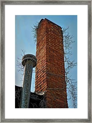 Twig Chimney Framed Print