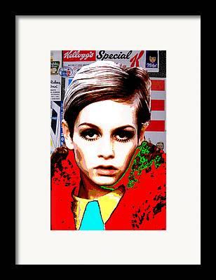 Twiggy Digital Art Framed Prints