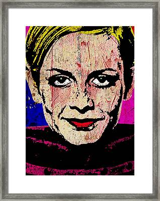Twiggy 1 One Framed Print by Otis Porritt