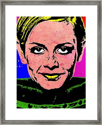 Twiggy 2 Framed Print by Otis Porritt
